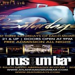 3 Saturdays @ Museum Bar