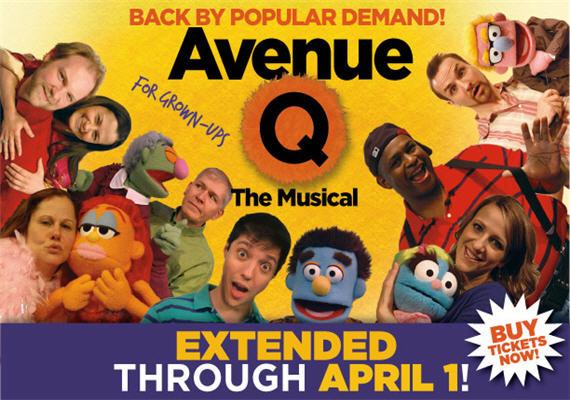 Avenue Q Jan 25th – Apr 1st
