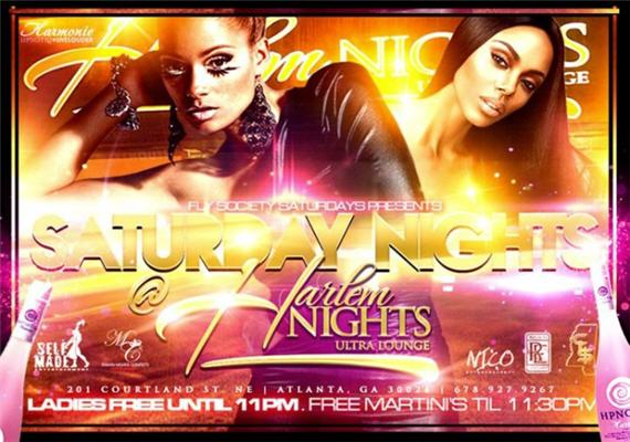 Fly Society Saturdays @ Harlem Nights Ultra Lounge