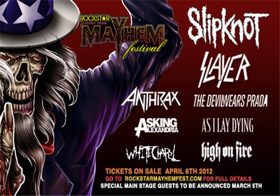 Rockstar Mayhem Festival 2012 July 14th