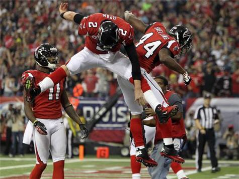 Falcons Blow Huge Lead But Advance On Last Minute Field Goal To Defeat Seahawks