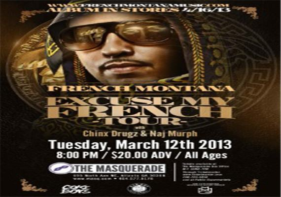 French Montana LIVE March 12th @ Masquerade