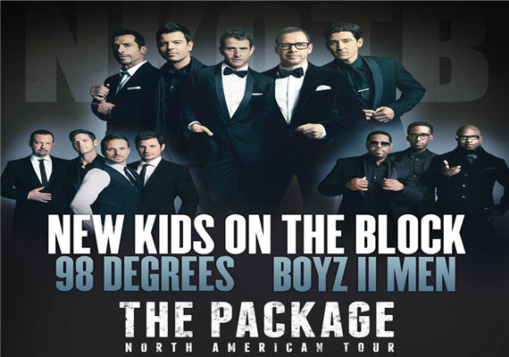 The Package Tour Feat New Kids On The Block, 98 Degrees, & Boyz II Men June 20th