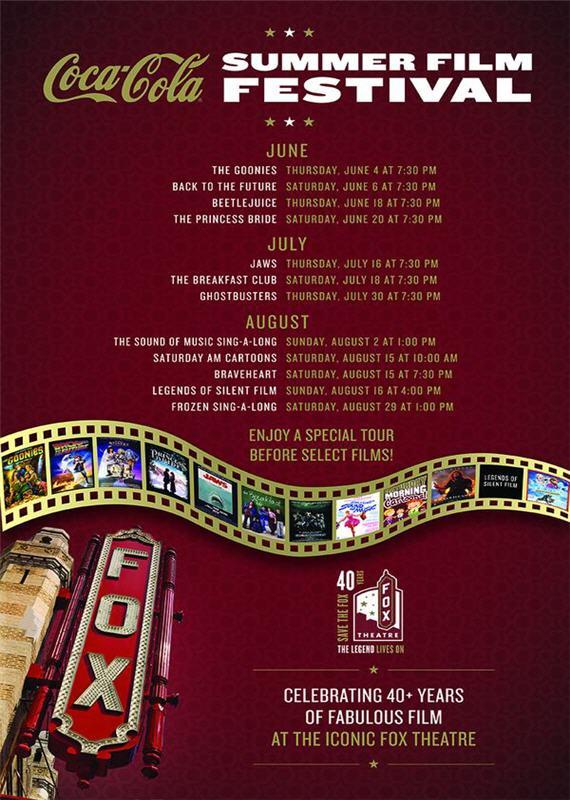 2015 Coca-Cola Summer Film Festival Lineup