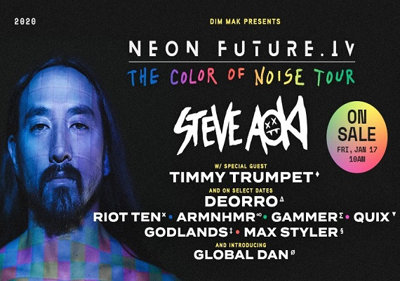 Steve Aoki – Neon Future IV: The Color of Noise Tour